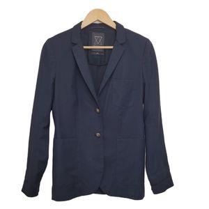 ARITZIA TALULA EXETER Blazer Navy Blue Wool